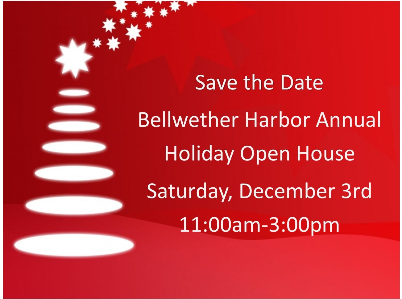 save the date holiday open house