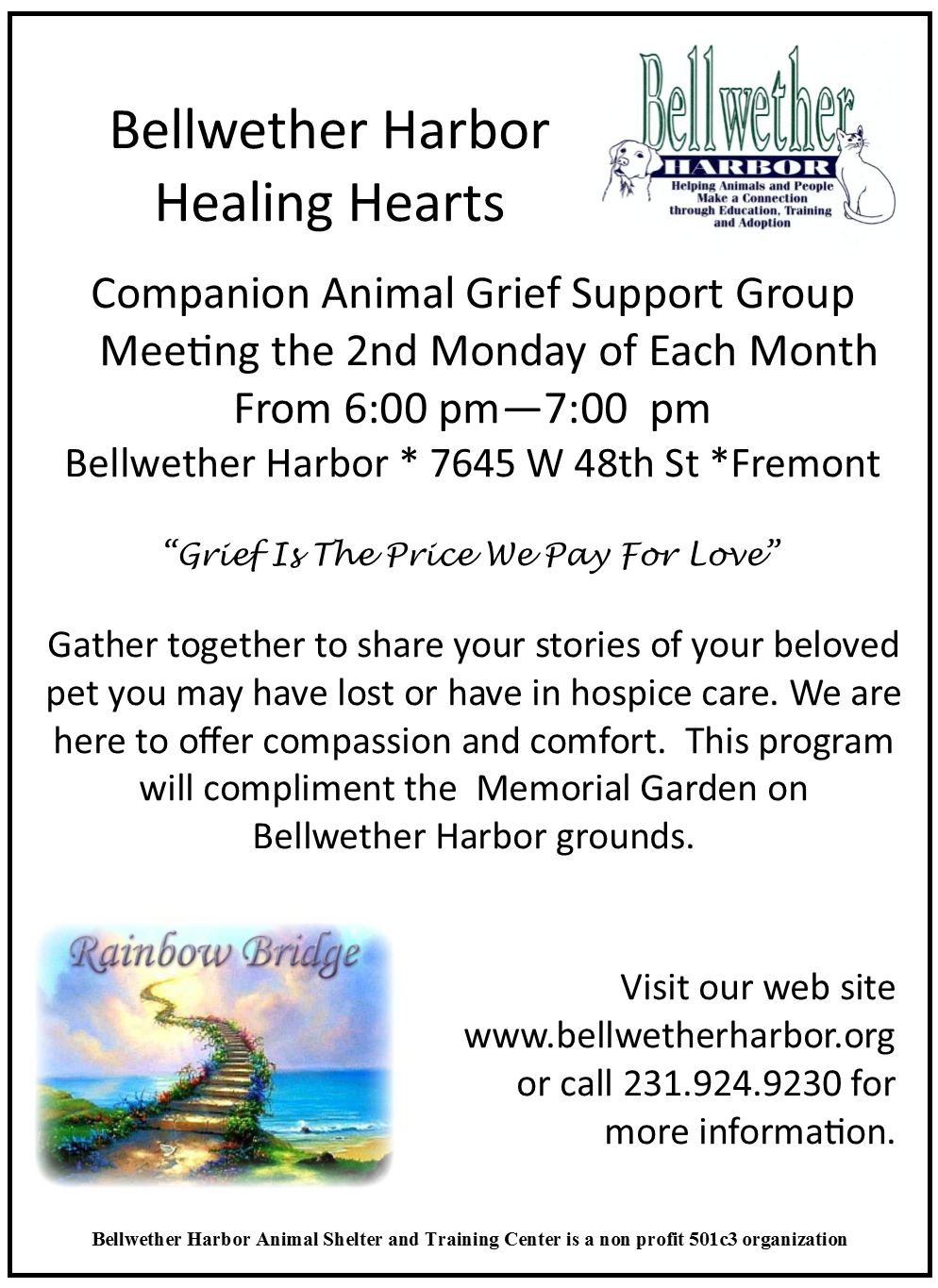 Bellwether Harbor Healing Hearts @ Bellwether Harbor | Fremont | Michigan | United States